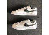 Кроссовки Nike Blazer Low Leather White/Black - Фото 4