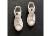 Кроссовки Nike Blazer Low Leather White/Black - Фото 3