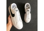 Кроссовки Nike Blazer Low Leather White/Black - Фото 6