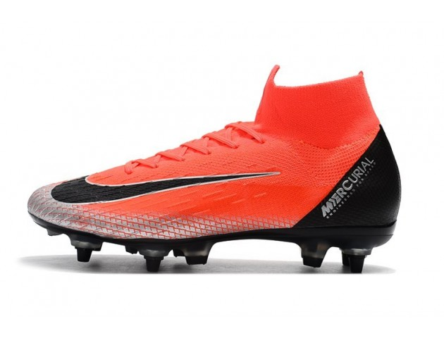 Футбольные бутсы Nike Mercurial Superfly VI Elite CR7 SG Mango/Black