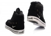 Кроссовки Nike High Top Fur Black С МЕХОМ - Фото 2