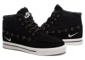 Кроссовки Nike High Top Fur Black С МЕХОМ - Фото 1
