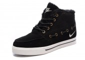Кроссовки Nike High Top Fur Black С МЕХОМ - Фото 3