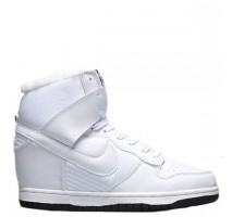 Сникерсы Nike WMNS Dunk Hight White С МЕХОМ