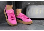 Кроссовки Puma Suede Creeper x Rihanna Crimson/Black - Фото 2