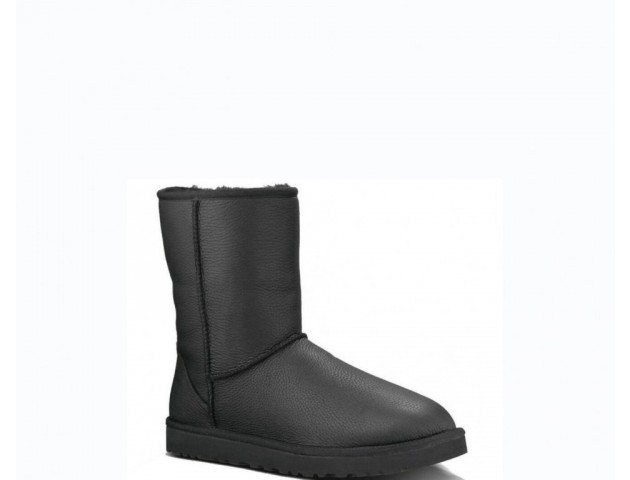 UGG BABY CLASSIC II BOOT LEATHER BLACK