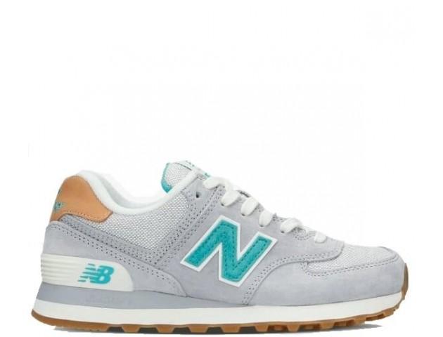 Кроссовки New Balance WL574BCB Grey/Turquoise