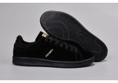 Кроссовки Adidas Stan Smith Suede Black - Фото 1