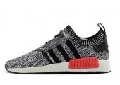 Кроссовки Adidas NMD Runner Grey/Black/Red - Фото 1