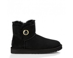 UGG MINI BAILEY BUTTON ORNATE BOOT BLACK