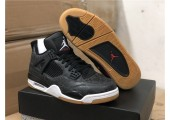 Баскетбольные кроссовки Air Jordan 4 Black/Grey - Фото 10