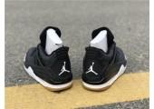 Баскетбольные кроссовки Air Jordan 4 Black/Grey - Фото 4