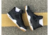 Баскетбольные кроссовки Air Jordan 4 Black/Grey - Фото 3