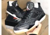 Баскетбольные кроссовки Air Jordan 4 Black/Grey - Фото 9