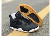 Баскетбольные кроссовки Air Jordan 4 Black/Grey - Фото 6