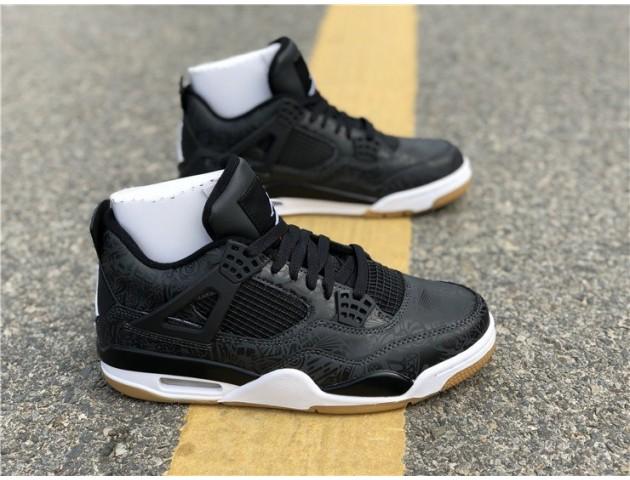Баскетбольные кроссовки Air Jordan 4 Black/Grey