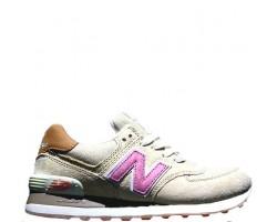 Кроссовки New Balance 574 Tan/Pink