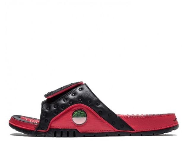 Шлепанцы Air Jordan Hydro 13 Black/Red