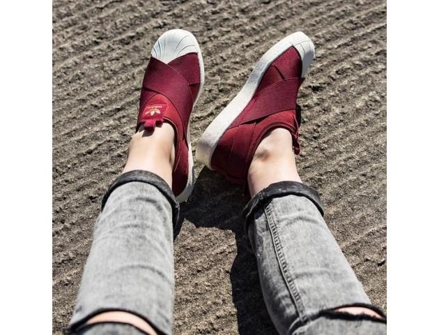 Кроссовки-слипоны Adidas Superstar Slip-on Bordo