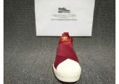 Кроссовки-слипоны Adidas Superstar Slip-on Bordo - Фото 3