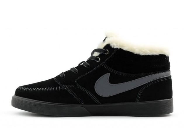 Кроссовки Nike Blazer Mid Black С МЕХОМ