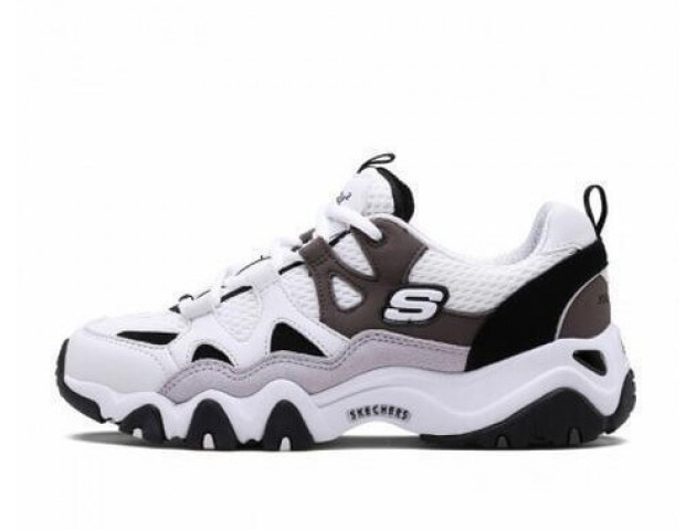 Кроссовки Skechers DLites 2 White/Charcoal/Black