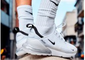 Кроссовки Nike Air Max 270 White/White/Black - Фото 3