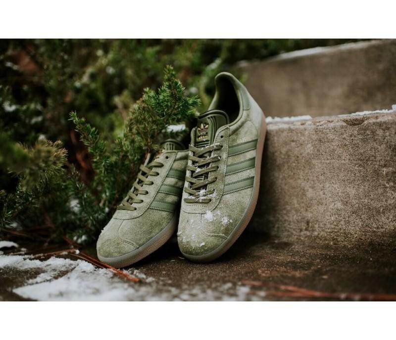 bas prix fe87d 7ac1d Кроссовки Adidas Gazelle Olive Green