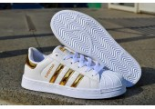 Кроссовки Adidas Superstar Rose/Gold - Фото 3