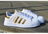 Кроссовки Adidas Superstar Rose/Gold - Фото 2