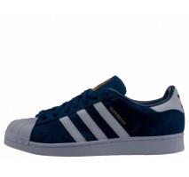 Кроссовки Adidas Superstar Suede Collegiate Navy/White