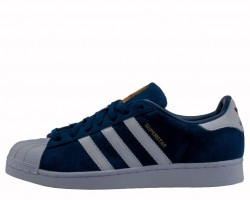 Кроссовки Adidas Superstar Suede Collegiate Navy/White