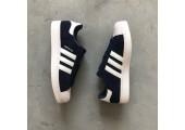 Кроссовки Adidas Superstar Suede Collegiate Navy/White - Фото 4