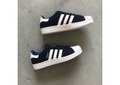 Кроссовки Adidas Superstar Suede Collegiate Navy/White - Фото 2