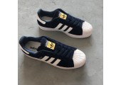 Кроссовки Adidas Superstar Suede Collegiate Navy/White - Фото 7