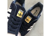 Кроссовки Adidas Superstar Suede Collegiate Navy/White - Фото 8