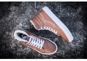 Зимние кеды Vans High-top Classic Brown С МЕХОМ - Фото 6