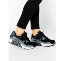 Кроссовки Nike Air Max 90 Black And Grey Trainers