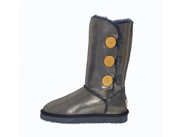 UGG BAILEY BUTTON TRIPLET II BOOT GOLD
