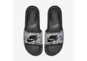 Шлепанцы Nike Benassi JDI Print Black/Whte - Фото 3