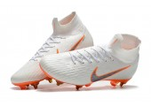 Футбольные бутсы Nike Mercurial Flyknit Superfly VI Elite SG AC White/Orange - Фото 2