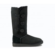 UGG BAILEY BUTTON TRIPLET II BOOT BLACK