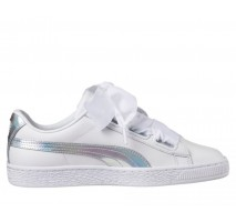 Кроссовки Puma Basket Heart White holographic