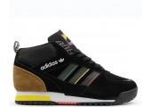 Кроссовки Adidas ZX TR Mid Black/Brown С МЕХОМ - Фото 4