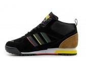 Кроссовки Adidas ZX TR Mid Black/Brown С МЕХОМ - Фото 1