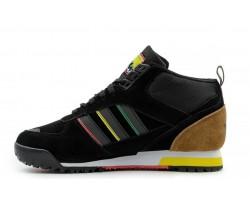 Кроссовки Adidas ZX TR Mid Black/Brown С МЕХОМ