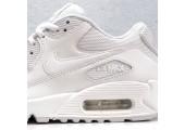 Кроссовки Nike Air Max 90 Premium White/Metallic Silver - Фото 5