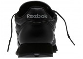 Кроссовки Reebok Classic Leather All Black - Фото 4