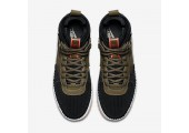 Кроссовки Nike Lunar Force 1 Duckboot Army Green/Black - Фото 8