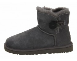 UGG MINI BAILEY BUTTON II BOOT GREY